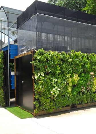 Singapore's first solar powered urban farming system